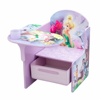 Delta Children Gray Disney Fairies Kid's Desk Chair | Wayfair
