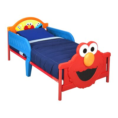 Sesame Street Elmo Convertible Toddler Bed