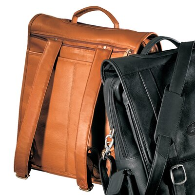 Vaqueta Napa Convertible Laptop Flap Leather Briefcase