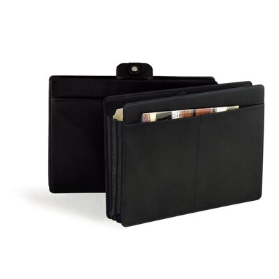 Andrew Philips Synthetic Legal Accordion File Folder in Black