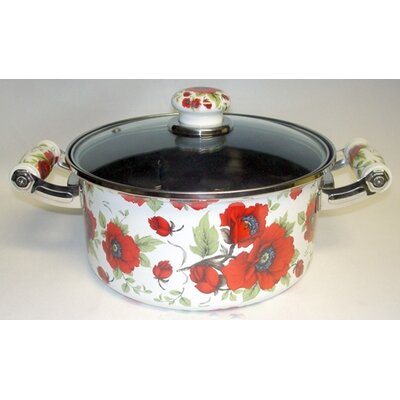 Danico Enamel Kitchenware Soup Pot with Lid