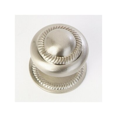 QMI Roped Cabinet Knob with Back Plate in Satin Nickel