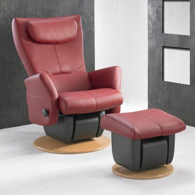 Dutailier 217 Cologne Glider with Closed Base and Ottoman