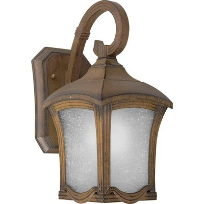 Forte Lighting One Light Outdoor Wall Lantern in Rustic Sienna