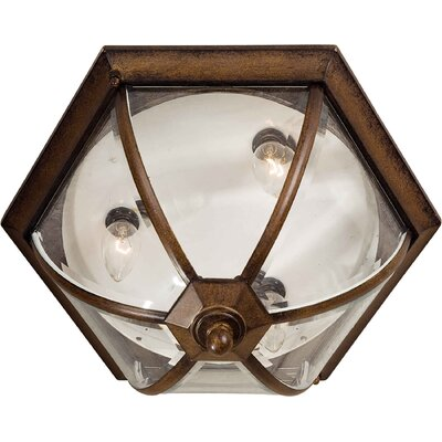 Forte Lighting 3 Light Outdoor Flush Mount