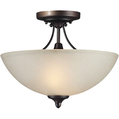 Forte Lighting 2 Light Semi Flush Mount