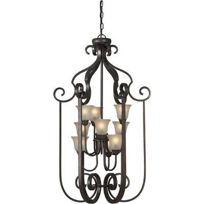 Forte Lighting 9 Light Foyer Pendant
