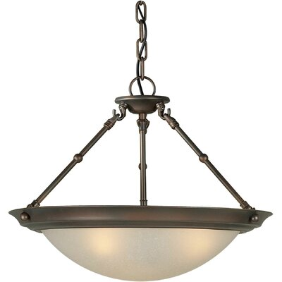 Forte Lighting 3 Light Convertible Inverted Pendant