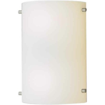 Forte Lighting One Light Wall Sconce in Brushed Nickel