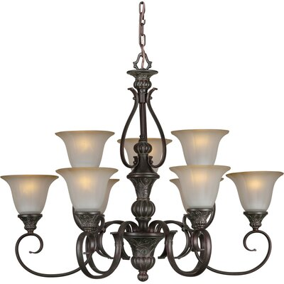 Forte Lighting 9 Light Chandelier