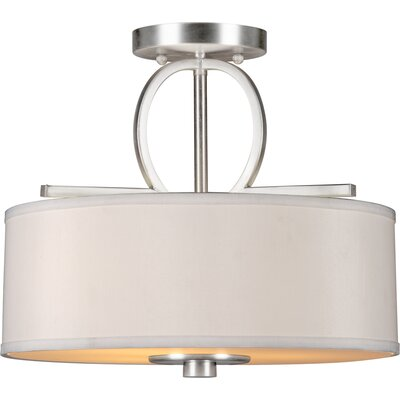 Forte Lighting 3 Light Semi-Flush Mount