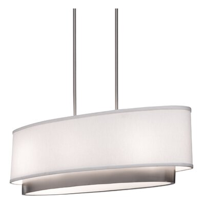 Scandia Three Light Oval Chandelier in Brushed Nickel