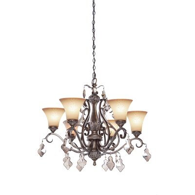 Artcraft Lighting Vienna 6 Light Chandelier