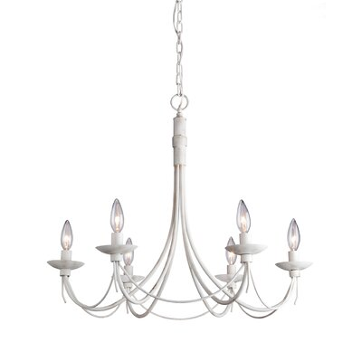 Wrought Iron 6 Light Chandelier