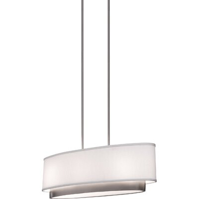 Artcraft Lighting Scandia Three Light Oval Chandelier in Brushed Nickel
