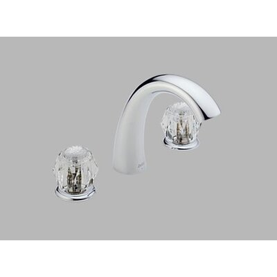Delta Classic Double Handle Deck Mount Garden Roman Tub Faucet Less Handle