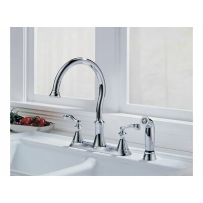 Delta Vessona Two Handle Centerset Kitchen Faucet with Spray