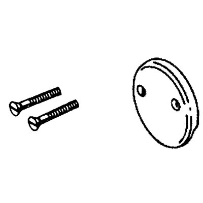 Delta Classic Overflow Plate and Screw