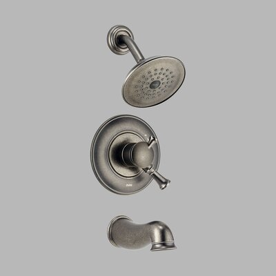 Delta Lockwood Monitor Scald-Guard Tub and Shower with Volume Control in Aged Pewter
