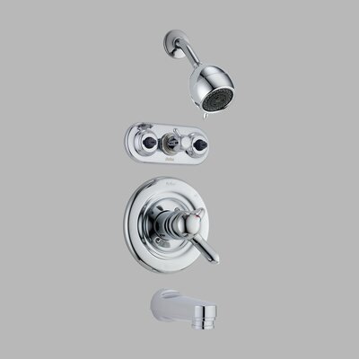 Delta Innovations 18 Series Monitor Thermostatic Tub and Jetted Shower Faucet Trim
