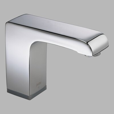 Delta Arzo Commercial Deck Mount Electronic Lavatory Faucet with Brass Spout and Hands-Free Operation