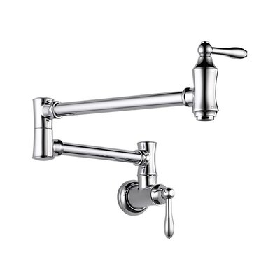 Two Handle Wall Mount Pot Filler Faucet
