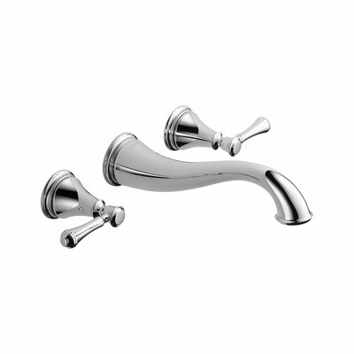 Cassidy Double Handle Wall Mount Bathroom Faucet - 3597L