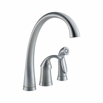 Pilar Single Handle Single Hole Kitchen Faucet with Spray and Diamond Seal Technology