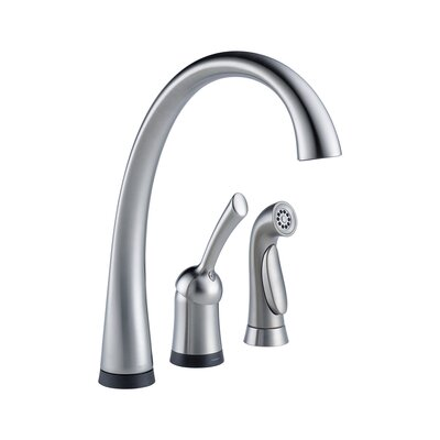Pilar Single Handle Widespread Kitchen Faucet with Touch2O(R) Technology and Spray