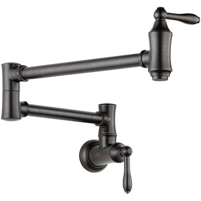Delta Two Handle Wall Mount Pot Filler Faucet