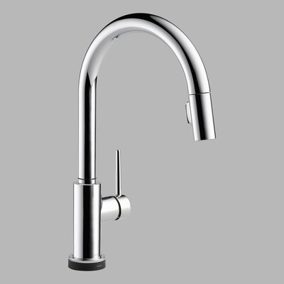 Delta Trinsic Single Handle Single Hole Pull-Down Kitchen Faucet Featuring Touch2O(R) Technology