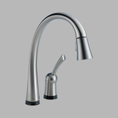 Delta Pilar Single Handle Pull-Down Widespread Kitchen Faucet with Touch2O Technology