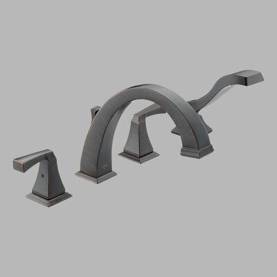 Delta Dryden Double Handle Deck Mount Roman Tub Faucet