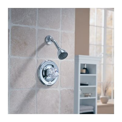 Delta Classic Thermostatic Pressure Balanced Shower Faucet Trim with Knob Handle in Chrome