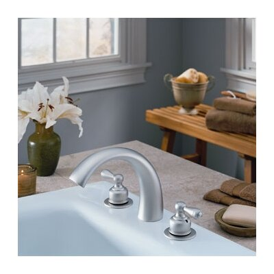 Delta C-Spout Double Handle Deck Mount Roman Tub and Whirlpool Faucet