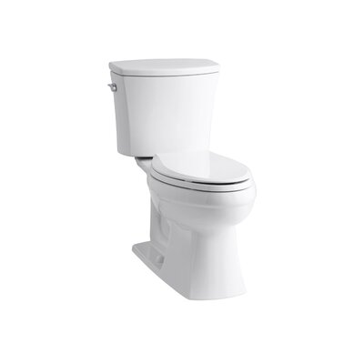 Kohler Kelston Comfort Height Two-Piece Elongated 1.6 Gpf Toilet with Class Five Flush Technology and Left-Hand Trip Lever