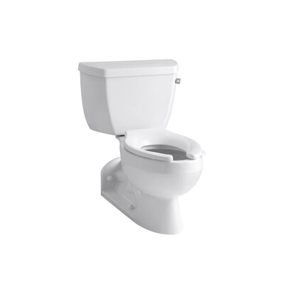 Kohler Barrington Pressure Lite Toilet with Elongated Bowl and Right-Hand Trip Lever