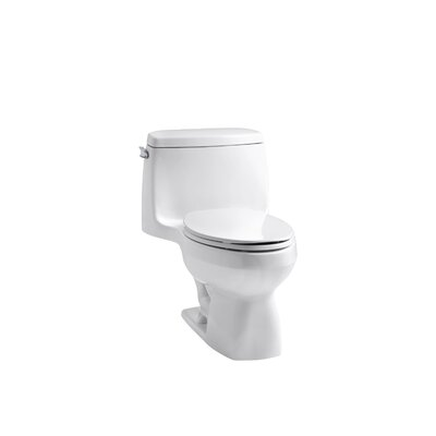 Kohler Santa Rosa One-Piece Compact Elongated 1.6 Gpf Toilet with Ingenium Flush Technology and Left-Hand Trip Lever