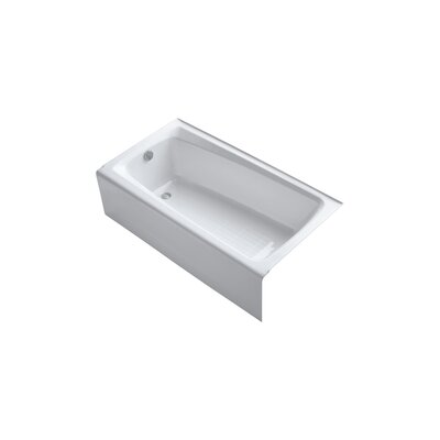 "Kohler Mendota 60"" X 32"" Alcove Bath with Integral Apron and Left-Hand Drain"