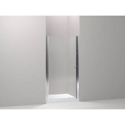 "Kohler Fluence Pivot Shower Door, 65-1/2"" H X 27-1/4 - 28-3/4"" W, with 1/4"" Thick Crystal Clear Glass"