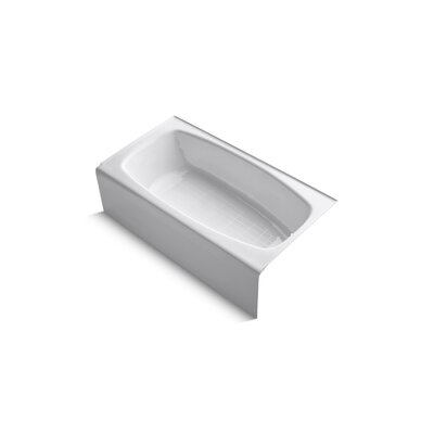 "Kohler Dynametric 60"" X 32"" Alcove Bath with Right-Hand / Left-Hand Drain"