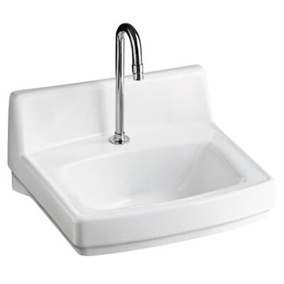 Wall Mount Sink No Faucet Hole : Greenwich+Wall+Mount+Bathroom+Sink+with+Single+Hole+Faucet+Drilling ...