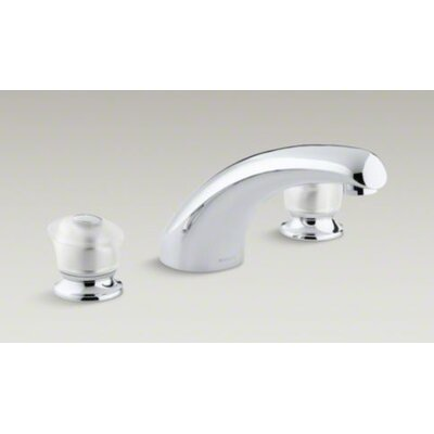 Kohler Coralais Deck-Mount High-Flow Bath Faucet Trim with Sculptured Acrylic Handles