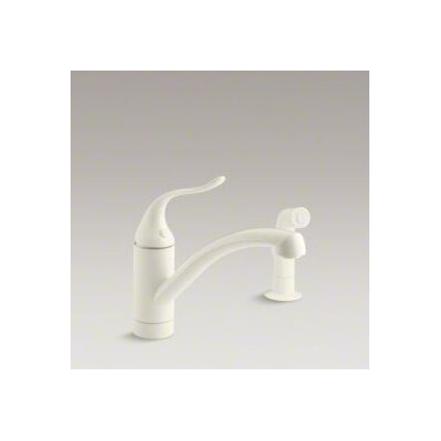 Kohler Coralais Decorator Kitchen Faucet with Matching Finish Sidespray and Lever Handle