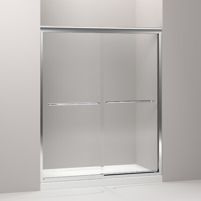 "Kohler Fluence Sliding Shower Door, 75"" H X 56-5/8 - 59-5/8"" W, with 3/8"" Thick Crystal Clear Glass"