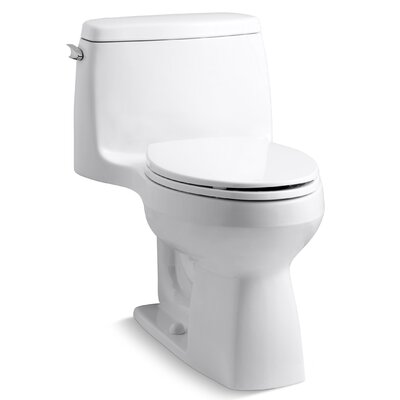 Santa Rosa Comfort Height One-Piece Compact Elongated 1.28 Gpf Toilet with Class Five Flush ...