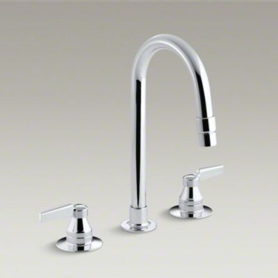 Kohler Triton Widespread Lavatory Faucet with Vandal-Resistant Aerator and Rigid Connections, Requires Handles