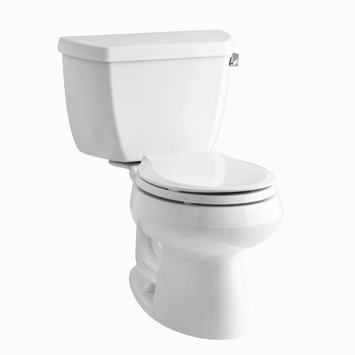 Kohler Wellworth Classic Two-Piece Round-Front 1.28 Gpf Toilet with Class Five Flush Technology, Right-Hand Trip Lever and Tank Cover Locks
