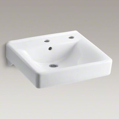 "Kohler Soho 20"" X 18"" Wall-Mount/Concealed Arm Carrier Bathroom Sink Right-Hand Dispenser Hole"