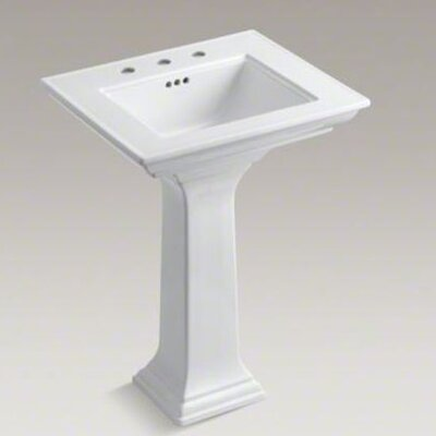 "Kohler Memoirs Pedestal Lavatory with Stately Design and 8"" Centers"